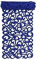 テーブルランナー フェルト ランチョンマット 透かし彫り テーブルクロス テーブルランナー 食卓ランナー 欧風 テーブルランナー 家庭用テーブルパッド 台所 食卓 インテリア 防汚 断熱 滑り止め 丸洗い(ブルー)