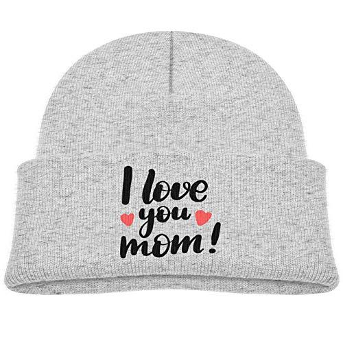 Sng9o Gorros unisex con texto en inglés 'I Love You Mom Kids Hip Hop Breakdance', de algodón suave