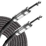 ギター ベース シールド ケーブル S-S 断線しにくい 軽量 ツイード織布 micawber (6m)