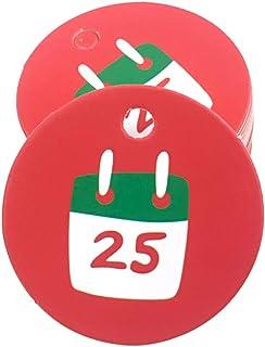 iEay Étiquettes Noël, Tag image style de noel, pour DIY bannières décoration de Noël et Vacances (100 pcs) (part 3) (calen...
