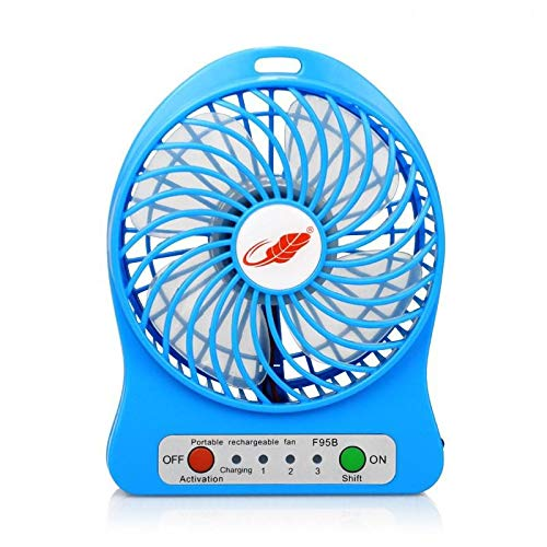 Portable Fan USB Rechargeable Mini Air Conditioner Table Fan Best Sellers Home Fan USB Air Conditioner Fans Blue