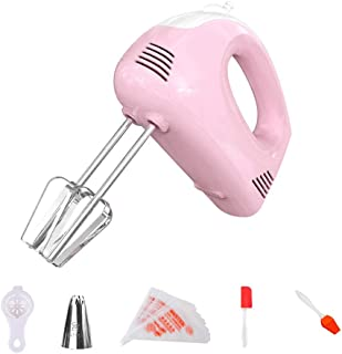 barra di birra aiuto di cucina per la cottura Sbattitore elettrico a mano sbattitore per uova in acciaio inossidabile colore: rosa
