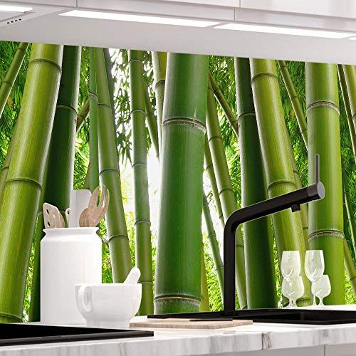 StickerProfis Küchenrückwand selbstklebend - BAMBUSWALD - 1.5mm, Versteift, alle Untergründe, Hart PET Material, Premium 60 x 220cm
