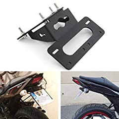 Fitment: for SUZUKI SV650 2017 -2020 / SV650X 2018-2020 All 304 Stainless Steel Hardware Included, Easy Installation Compatible with Stock Turn Signals and Aftermarket Blinkers(10mm) Material: 5083-H112 Aluminum Alloy, Light Weight, with 3.0mm Thickn...