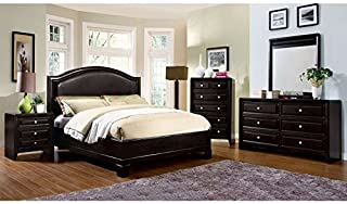 Carefree Home Furnishings Winsor Transitional Style Espresso Finish King Size 6-Piece Bedroom Set