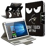 UC-Express Schutzhülle für Acer Iconia Tab 10 A3-A50 Tablet Tasche aus Kunstleder mit Standfunktion 360° Drehbar Hülle Schutztasche Ständer, Farbe:Motiv 4