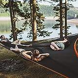 Hamaca para acampar aérea gigante revolucionaria, 2 mx 2 m / 3 m x 3 m Hamaca portátil para varias personas de 3 puntos,carpa de aire de la casa del árbol, hamaca triangular al aire libre para acampar