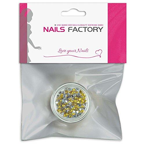 Strass triangle jaune de pierres de strass avec décoration en cristal Rhinestones Nail Art