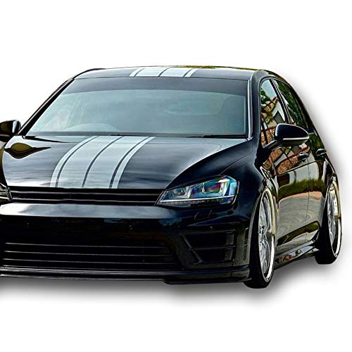 Front to Back Stripe Kit Decal Sticker Graphic Compatible with VW Volkswagen Golf R GTI MK7 2014-2016