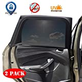 Car Window Sunshade -2 Pack Breathable Mesh Car Rear Side Window Shade Sunshade UV Protection for Baby Family Pet Size XL, Mosquito Net Curtain Fit for Most(95%) of Cars, Cover Full Window