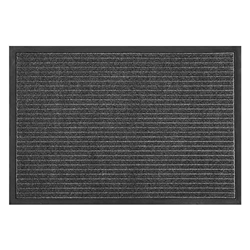 QYQS Alfombras Entrada, Absorción de Agua, Eliminación de Polvo, Resistencia A La Abrasión y Resistencia de Frotamiento, Estera Al Aire Libre(Size:45x75cm/17.7x29.6in,Color:Gris)