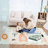 Baby Spiel Matte Spielmatte Verdickte Vergrößerte Schaumstoffmatte Faltbare Krabbelmatte Wasserdicht Tragbar Geeignet für Kinder (Bear)