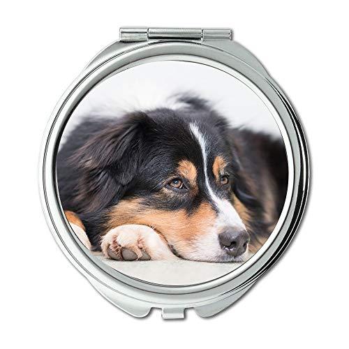 Espejo de viaje, espejo para perro, silencioso, relajado, bonito, espejo de bolsillo, espejo portátil