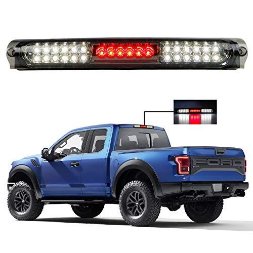 for 1997-2004 Ford F150 LED Bar 3rd Third Tail Brake Light Rear Cargo Lamp High Mount Stop light (Chrome Housing Smoke Lens)