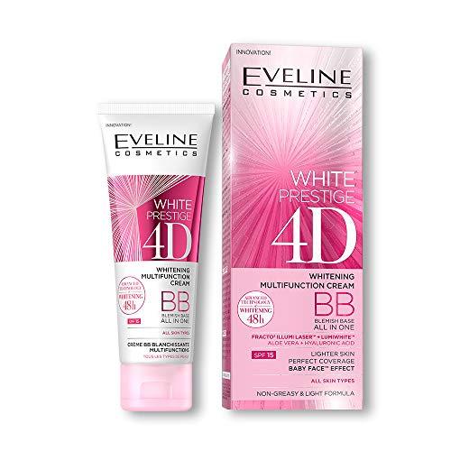 EVELINE WHITE PRESTIGE 4D bleichende Multifunktion BB Creme, 50 ml