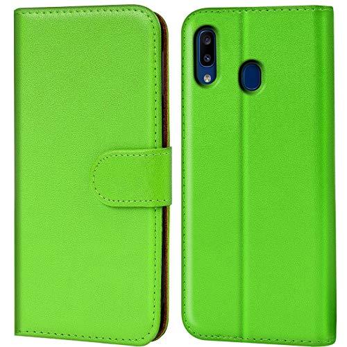 Verco kompatibel mit Samsung Galaxy A20e Hülle, Handyhülle für Galaxy A20e Tasche PU Leder Flip Hülle Brieftasche - Grün
