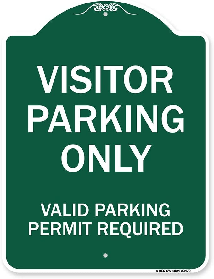 Department store SignMission Designer Boston Mall Series Sign - Visitors Area Parking Pa