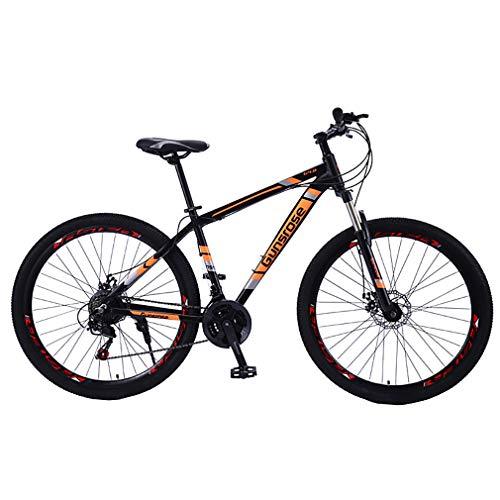 YAOXI 29 Pulgadas Bicicleta De Montaña Bicicleta con Suspensión De Horquilla Variable Velocidad Sistema De Freno De Disco Marco De Aluminio Sillín De Esponja Niño-Niña Bicicleta,Naranja