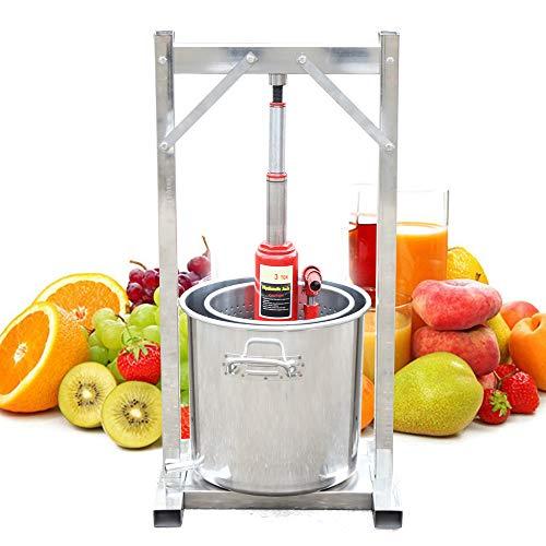RANZIX Obstpresse Obstmühle Apfelpresse Frucht Entsafter Saftpresse 12 Liter Edelstahl