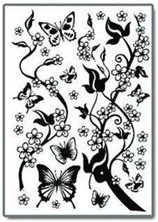 iTemer Pegatinas pared decorativas Vinilos decorativos pared dormitorio Stickers Decoracion pared Estilo único �rboles Mariposas Spring Negro 50 * 70cm 1 set