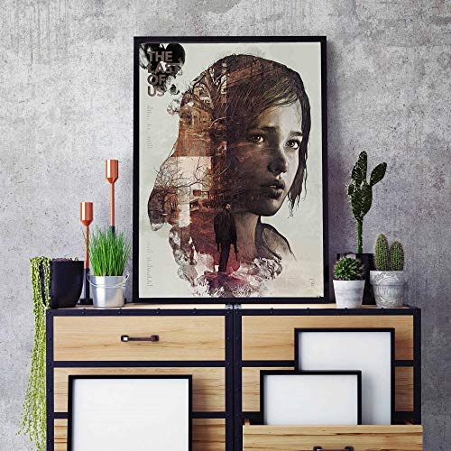 Chihie The Last of Us Silk Fabric Stampa Poster da Parete Zombie Survival Horror Action TV Game Pictures 40cm x60cm Nessuna Cornice