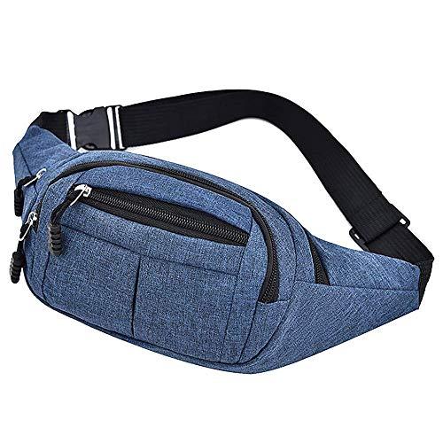 AYCPG Bag for Men and women casual Oxford cloth sports fitness Adjustable shoulder strap Waist Packs belt bag lucar (Color : C)