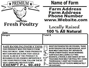 Custom Poultry Freezer Labels 4