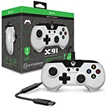 Hyperkin X91 Wired Controller for Xbox One/ Windows 10 PC (White) - Officially Licensed by Xbox