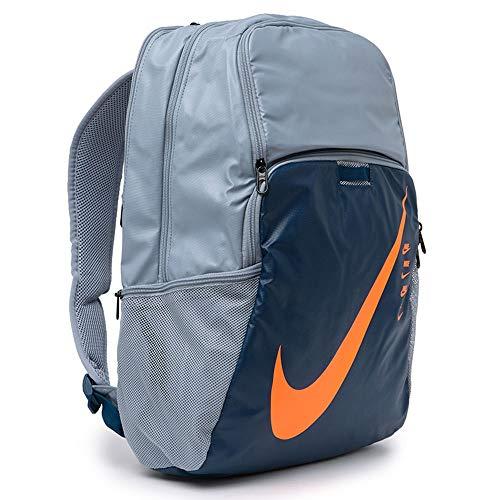 Nike Brasilia XL Backpack - 9.0 Obsidian Mist/Valerian Blue/Total Orange One Size
