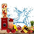 Personal Blender for Shakes – Portable 2-Speed Motor and 3 Blades Good for Travel – Practical and Compact Design Smoothie Maker – 2 Leak-Proof BPA-Free Bottles with Oz Marks