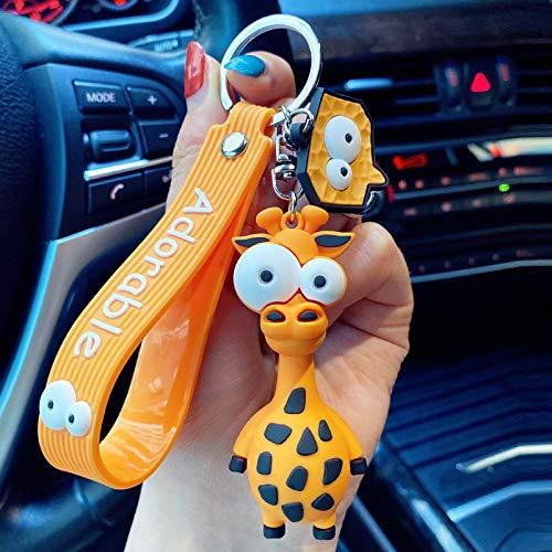 orbiz Llavero de Dibujos Animados Cebra Jirafa Funny Toy Llavero Llavero Llavero Regalos de cumpleaños para niños
