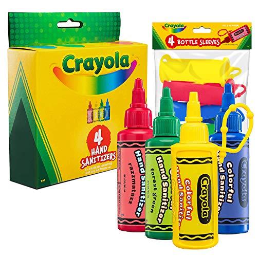 CRAYOLA Kids Hand Sanitizer Gel, (4-Pack) 2 oz Travel Size,...