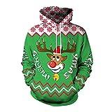 YWLINK Damen Sweatshirt Unisex Strickpullover Rudolph Rentier Pullover Weihnachten...