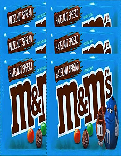 NEW M&Ms Hazelnut Spread Chocolate Candies Mini Party bags, Perfect For Packing Lunch Snack Net Wt 2.50 Oz (2)