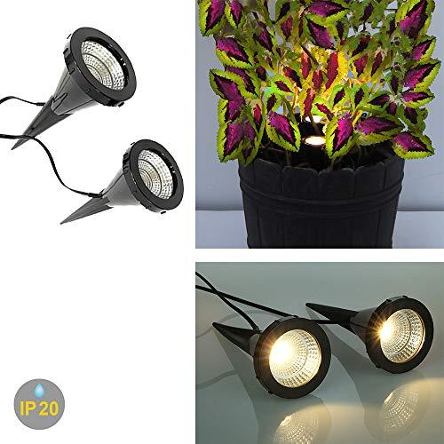 Dalux® 2x LED-Pflanzen-Strahler JASMIN Handschalter LED-Spot-Blumen-Zimmerpflanzen-Blumenkübel-Blumentopf-Spotlight Dekorations-Stimmungs-indirekter-Spot