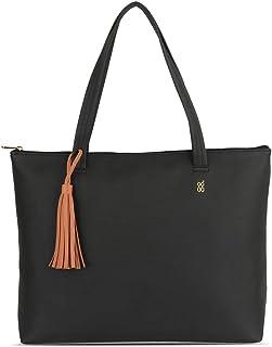 Baggit Autumn-Winter 2020 Faux Leather Women's Tote Handbag (Black) (Rimy)