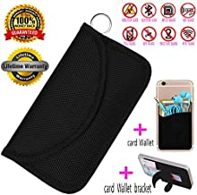 Best Faraday Bag,100% Anti-Spying Anti-Tracking GPS RFID Signal Blocker Bag for Cell Phone Privacy Protection and Car Key FOB, Healthy Handset Privacy Protection Travel & Data Security(Black)