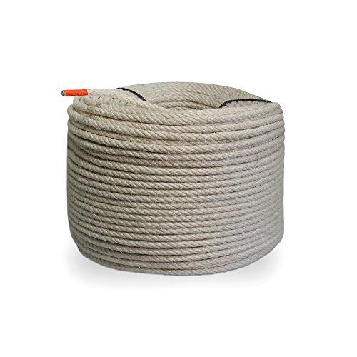 Grevinga® Naturfaser Sisal-Seil Ø 8 mm (versch. Längen) (50 Meter)