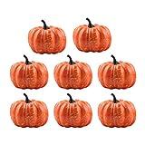 Toyvian Decorazione di Scena di Zucca di Zucca di Halloween di 8 cm Decorazione di Decorazioni per la casa di Raccolta di Piccole zucche di Arancia per Feste da casa 8 Pezzi