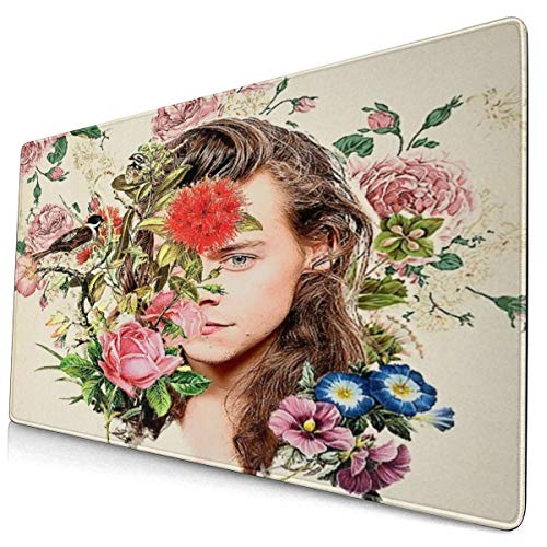 Harry Styles Mouse Pad Game Desktop Non-Slip Mouse Mat for Computer/Laptop 15.8 X 29.5 Inch