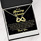 Express Your Love Gifts Mother Necklace in Early Years Keepsake - Tarjeta de regalo con infinito, acero inoxidable