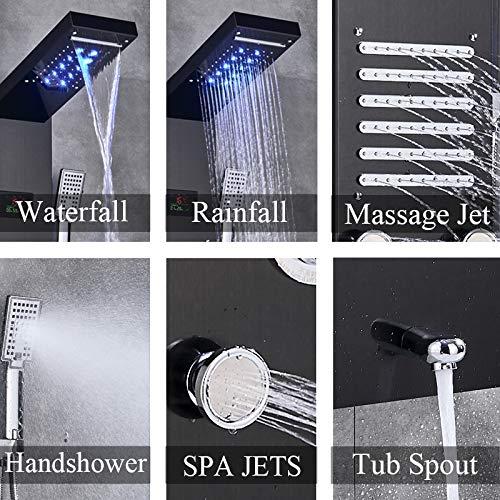Gmadostoe Grifo de Ducha LED, Grifo Mezclador para bañera con ...