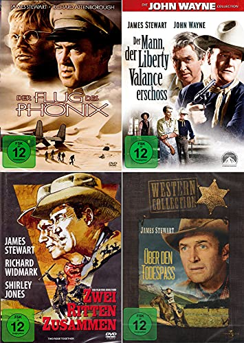 James Stewart Collection - Zwei ritten zusammen + Über den Todespass + Der Mann der Liberty Valance erschoss + Der Flug des Phö