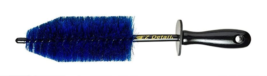 EZ Detail Brush Little - Wheel Rim Cleaner for Cars, Bike, Trucks, Motorcycle, and Other Vehicles. Non-Scratch Auto Detailing Tool, Easily reaches Nook and Crannies