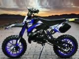 Dirtbike Coyote 49cc 10' Crossbike Pocket Minicross Motorcross Blau