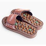Zapatillas de interior de verano para mujer, masajeador de pies para fascitis plantar de acupresión, zapatillas de masaje para interiores con piedra de jade, sandalias de reflexología para hombres