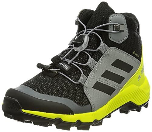 adidas Terrex Mid GTX Walking-Schuh, Cblack/Grethr/Aciyel, 35 EU