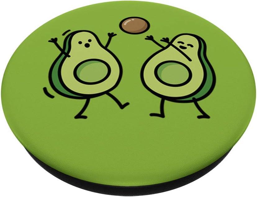 Gracioso aguacate baloncesto balonmano korfball PopSockets PopGrip Agarre intercambiable para Tel/éfonos y Tabletas