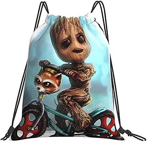 NIUPEE Baby Groot - Mochila para niños con cordón