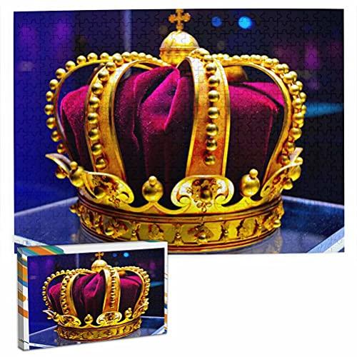 Corona del Rey de Rumania Rompecabezas para Adultos, 500 Piezas de Madera, Regalo de Viaje, Recuerdo, 20.4 x 15 Pulgadas